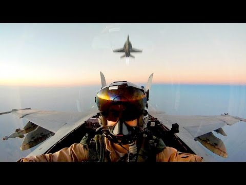 USAF KC-10 Air Refueling With F-18 Super Hornet (Probe And