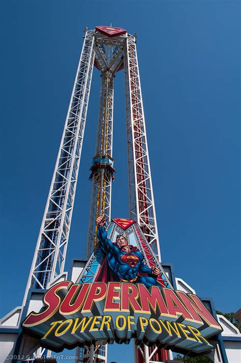 Superman Tower of Power Ride   Guide to Six Flags over Texas