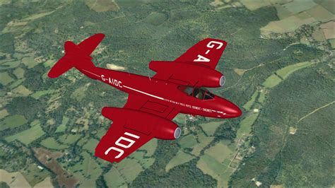 Gloster Meteor G-AIDC for FSX