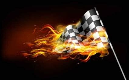 Vector Burning Flame Banner Background Vector Art - Ai