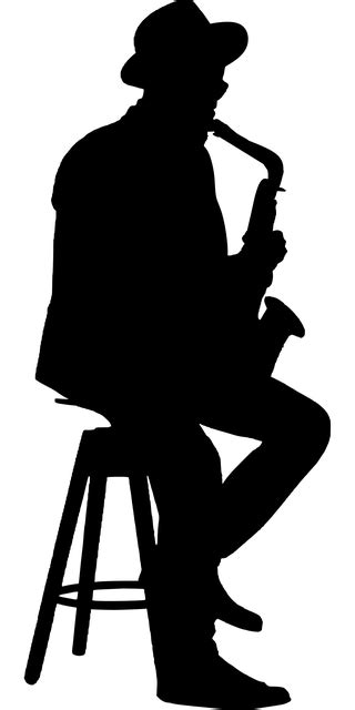 Silhouette Jazz Musician - Free vector graphic on Pixabay