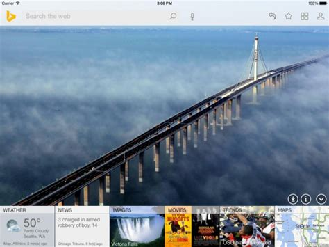 Bing for iPhone Gets New Homescreen, Bing for iPad Gets