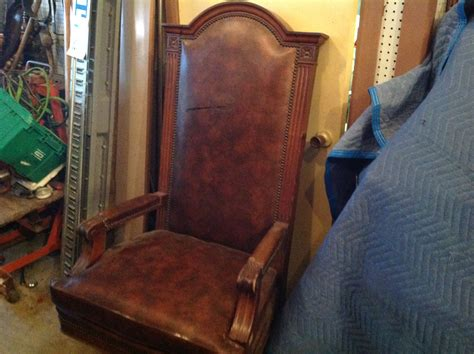 Vintage Marble & Shattuck Courtroom Judge's Chair